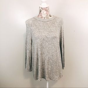 Philosophy crew neck gray sweater size M
